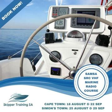 SAMSA SRC VHF RADIO COURSE in Cape Town and Simons Town 1 day only!