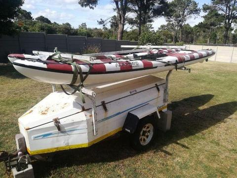 Kayaks x2 and Trailer for Sale