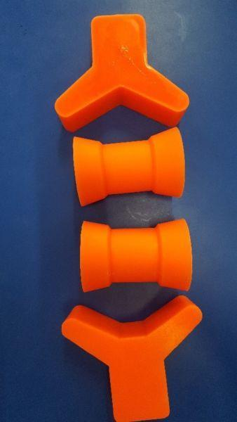 ORANGE BOAT ROLLERS AND STOPPERS!!!!!