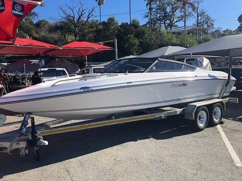 New Panache 2150 LX powered by a used Honda F225 outboard