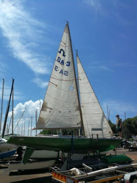 Classic Soling yacht