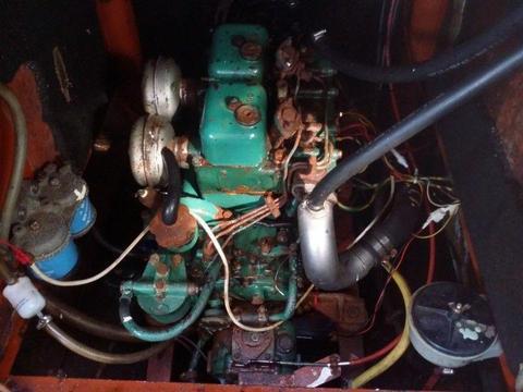 marine diesel engine inboard - volvo MD2B 25hp