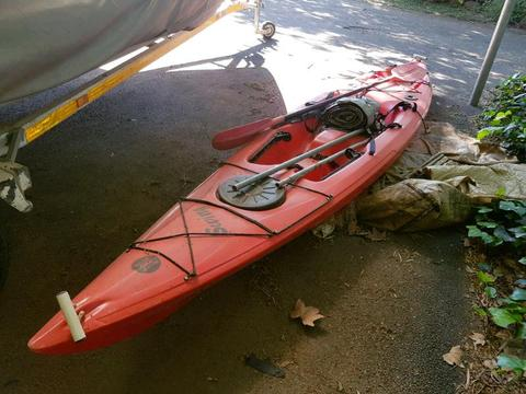 Perception Swing Kayak with paddle for Sale!
