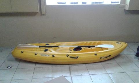 Kayak for sale - Fluid Buddy with Paddle