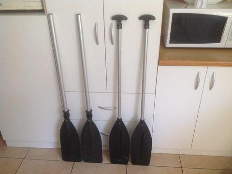 Paddles for Boats Canoes Watercraft (Approx. 1.22 m). R300 for A Set of Two