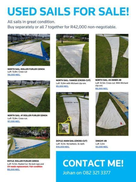 Used sails for sale!