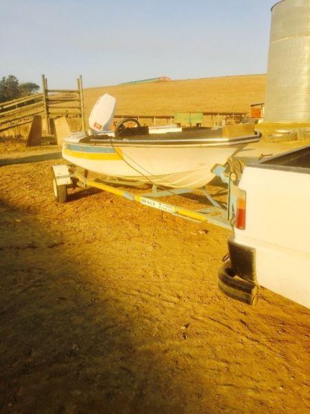 Bargain!!! Bass boat on trailer
