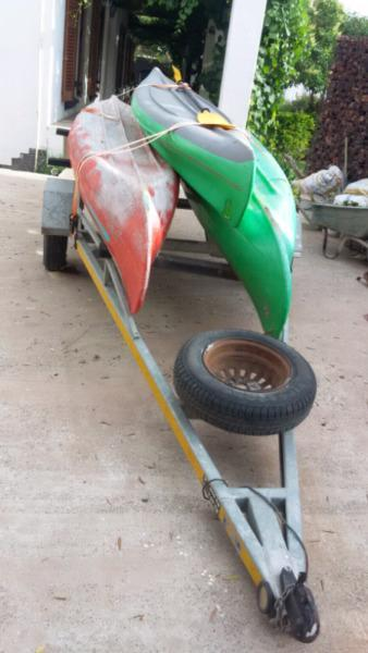 Indian Canoes with trailer