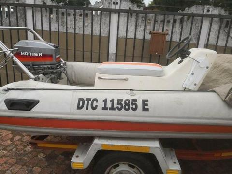 3.9m Rubber Duck with Mariner 30hp Motor R20000