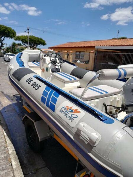 4.5m 50 Mariner rubberduck H20 watercraft/wildcat for sale