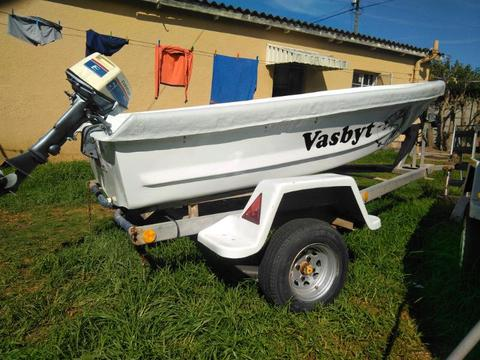 Small dinghy for sale with motor