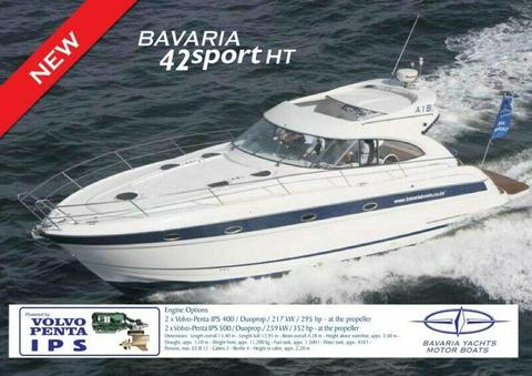 Bavaria motor yacht, 42 ft Sport HT Share for sale